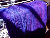 purple cloth
