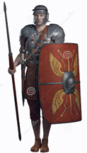 roman soldier with shield