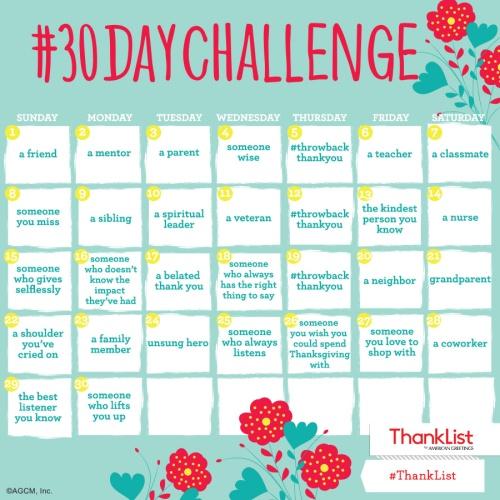 Gratitude Challenge 2018